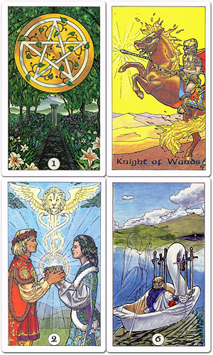 Robin Wood Tarot; Minor Arcana - © Robin Wood 1991