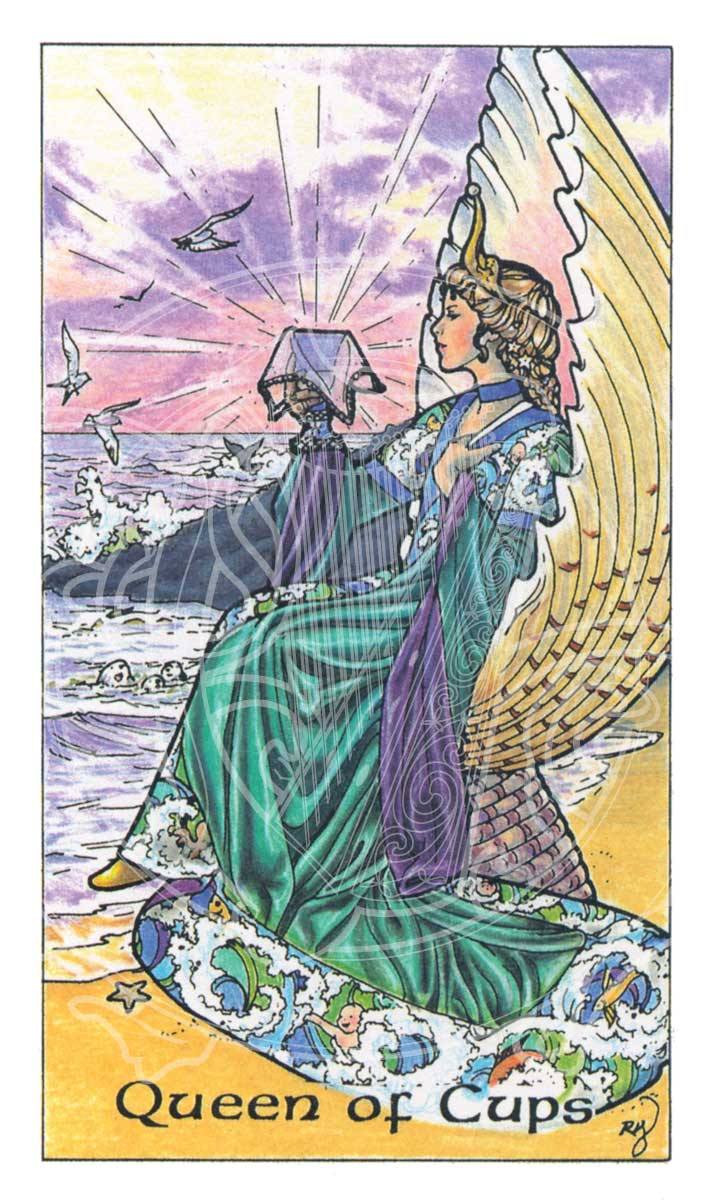 Queen Of Cups Example Of Tarot Card Print 169 Copyright