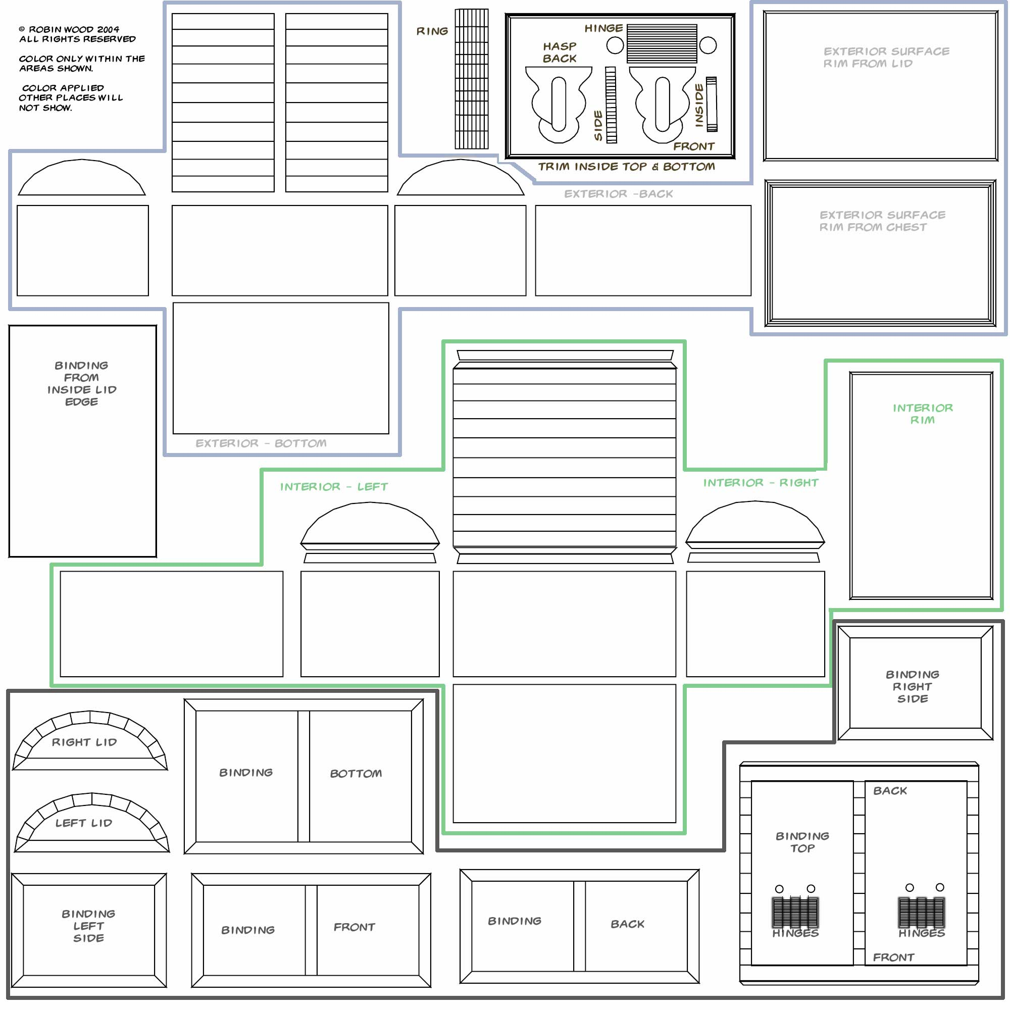 photo relating to Treasure Chest Template Printable titled Totally free Treasure Upper body Design and style © Copyright Robin Picket