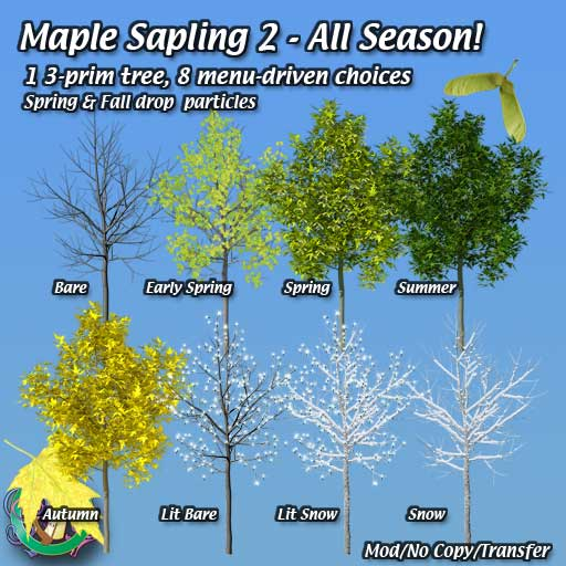Maple Saplings Landscaping For Second Life 169 Robin