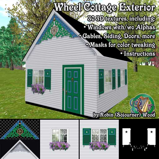 Wheel Cottage Exterior Textures For Second Life